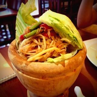 泰國傳統道地青木瓜涼拌 -  dari 泰美泰國原始料理 (大安區) di 大安區 |Taipei