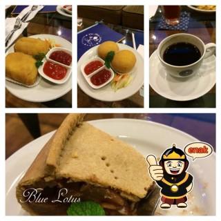 Rissoles, Croquette and Apple Pie + Coffee Americano - Simpang Lima's The Blue Lotus Coffee House (Simpang Lima)|Semarang