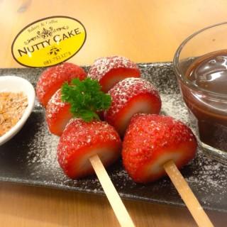 Strawberry Fondue - Muang Samut Sakhon's Nutty Cake (Muang Samut Sakhon)|Bangkok