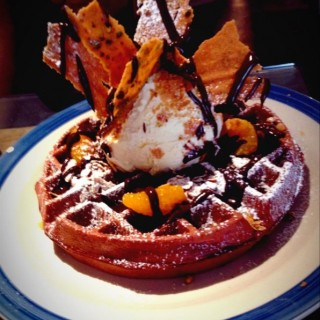 Red Velvet waffle  - Outram's Waffle Slayer (Outram)|Singapore