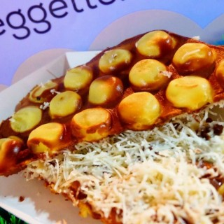 egg waffle with cheese and ovomaltine - Slipi's Eggeats (Slipi)|Jakarta