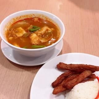ข้าวแกงส้มปลากระพง + หมูแดดเดียว - Arun Amarin's The Terrace Restaurant (Arun Amarin)|Bangkok