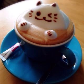 原味拿鐵立體拉花 -  西區 / 貓旅行咖啡輕食館 (西區)|台中