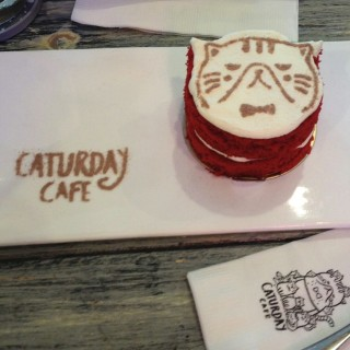 Red velvet cake - Thanon Phetchaburi's Caturday Cafe (Coco walk) (Thanon Phetchaburi)|Bangkok