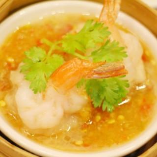 กุ้งนึ่งมะนาว - Amphoe Pak Kret's Hong Kong Suki (ฮ่องกงสุกี้) (Amphoe Pak Kret)|Bangkok