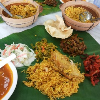 Banana Leaf Rice Chicken Briyani  - Kelana Jaya's Sri Suria Curry House (Kelana Jaya)|Klang Valley