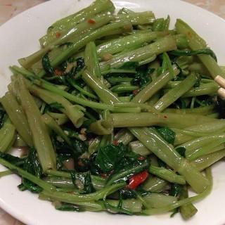 炒通菜 - 位於的蜆勁村盧爸爸私房菜 (大埔) | 香港