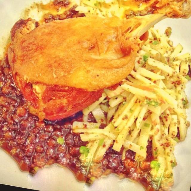 Crispy Duck Confit with Lentils and Apple Slaw -  dari Wild Flour Cafe + Bakery di Ortigas |Bakeshop/Pastries - Metro Manila