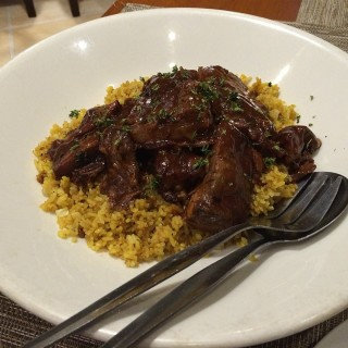Sticky Pork Ribs in soy-honey and chili sauce with cajun spiced rice - Alabang's Chef's Barrel (Alabang)|Metro Manila