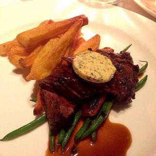 Dry Rubbed Wagyu Hanger Steak, Mustard butter and Fries -  Makati / Blackbird (Makati)|Metro Manila