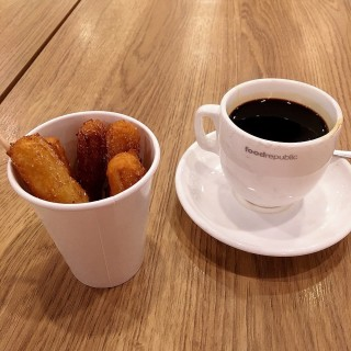 Churros With Kopi O 😂😂 - Orchard's The Saladicious - Food Republic (Orchard)|Singapore