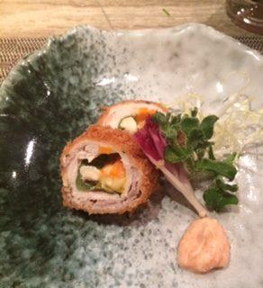 芝士豚肉卷 - 位於灣仔的木槇料理 (灣仔) | 香港