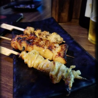 雞軟骨串燒,豬頸肉串燒,雞皮串燒 -  dari Hikawa (灣仔) di 灣仔 |Hong Kong