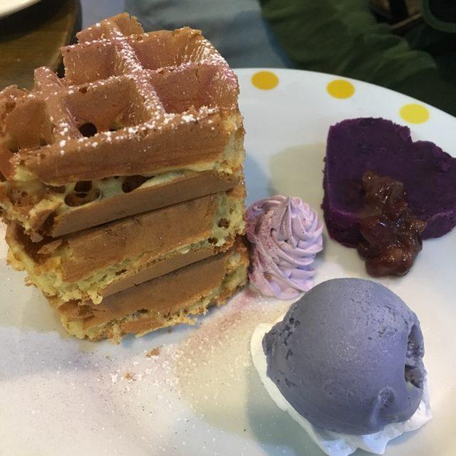 紫薯窩夫配紫薯雪糕 - 想點啡 - 咖啡店 - 大埔 - 香港