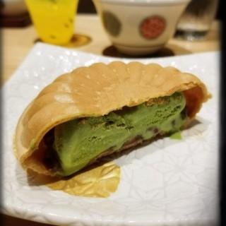 甜品:紅豆綠茶雪糕威化 - Sheung Wan's Kanidou Noda (Sheung Wan)|Hong Kong